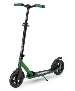 FRENZY 205MM PNEUMATIC PLUS RECREATIONAL SCOOTER - ARMY GREEN